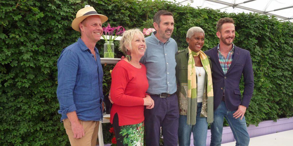 Gardeners' World presenters Joe Swift Carol Klein Adam Frost Nick Bailey