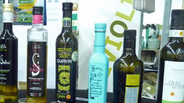 Good food olive oil in bottles