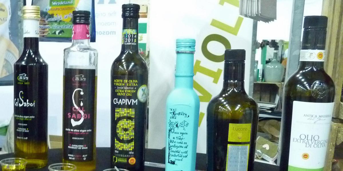 Good food olive oil in bottles