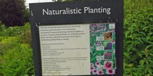 Sign about naturalistic planting