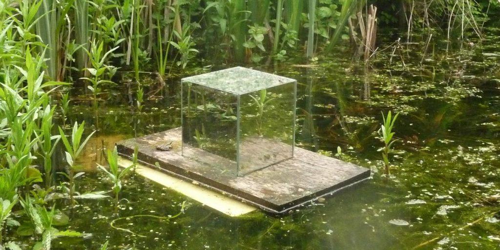 Spiegelkubus in Naturentuin Goirle