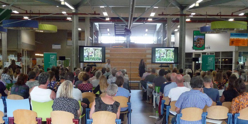 Velt symposium permacultuur zaalbeeld