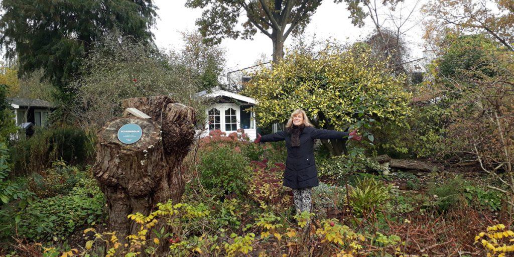Ans-Hobbelink-in-her-allotment-garden