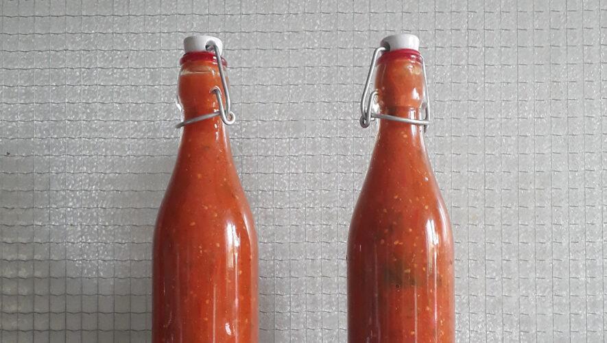 Flessen ketchup