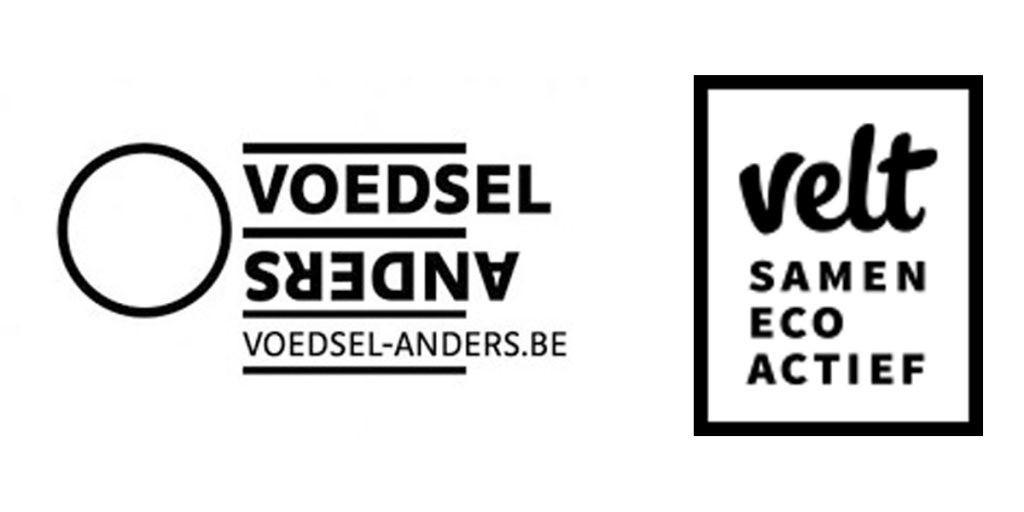 Voedsel Anders en Velt logo's