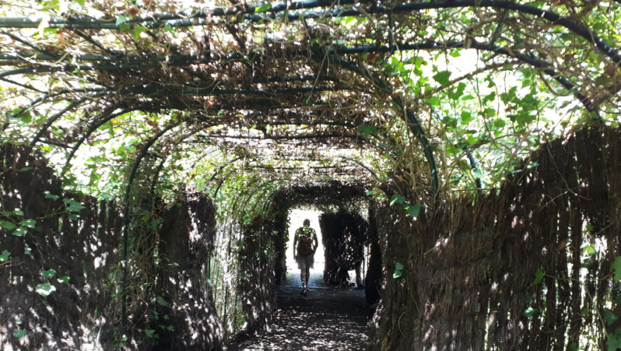Tunnel leading to celtic garden